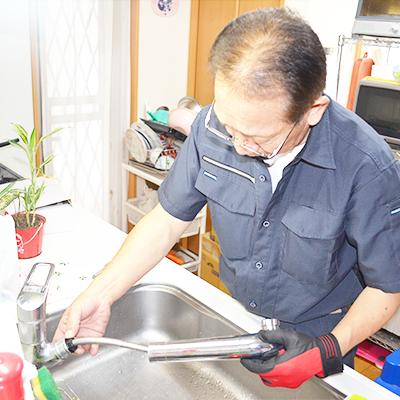 キッチン水道工事の部品交換