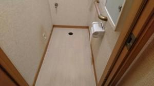 松戸のトイレ内クッションフロア交換工事